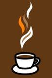 咖啡杯徽标 免版税库存照片
