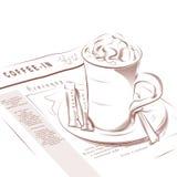 咖啡杯早报 免版税库存照片