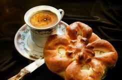 咖啡杯早晨 免版税库存照片