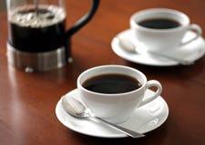 咖啡杯早晨 免版税库存图片