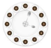 咖啡杯时钟 向量例证