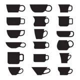 咖啡杯杯子梦想的重点前面有查找软的照片 免版税图库摄影
