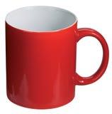 咖啡杯查出的红色 免版税库存图片
