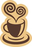 咖啡杯标志 免版税图库摄影