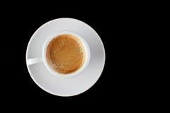 咖啡杯浓咖啡白色 免版税库存图片