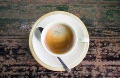 咖啡杯浓咖啡白色 免版税库存照片