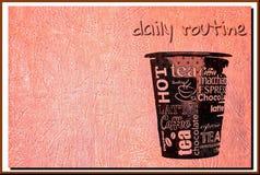 咖啡杯海报 库存照片