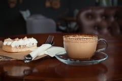 咖啡杯点心 免版税库存照片