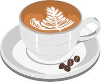 咖啡杯热奶咖啡 库存照片