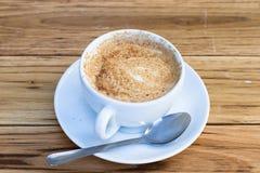咖啡杯热奶咖啡 免版税图库摄影