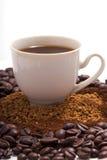咖啡杯照片 免版税图库摄影