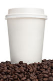 咖啡杯特写镜头 免版税库存图片
