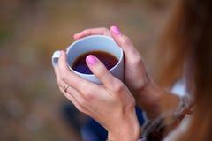 咖啡杯现有量 免版税库存图片