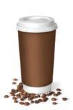 咖啡杯用咖啡豆 免版税图库摄影