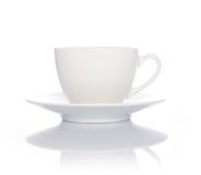 咖啡杯白色 免版税图库摄影