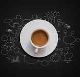 咖啡杯白色 库存例证