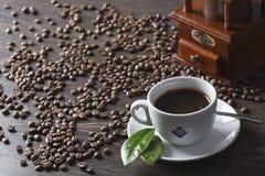 咖啡杯白色 图库摄影