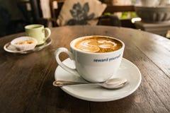 咖啡杯白色 库存照片