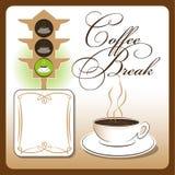 咖啡杯的时刻 免版税库存照片