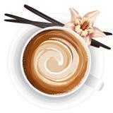 咖啡杯的现实传染媒介例证在白色的 免版税库存照片