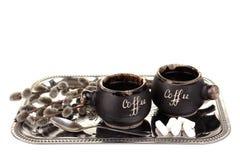 咖啡杯盘 库存图片