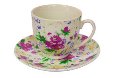 咖啡杯空的茶 图库摄影
