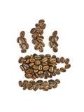 咖啡杯符号。 免版税库存照片