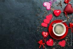 咖啡杯红色 免版税库存照片