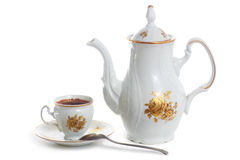 咖啡杯罐 免版税图库摄影