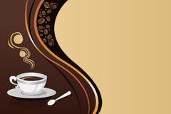 咖啡杯背景 图库摄影