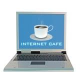 咖啡杯膝上型计算机 图库摄影