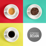 咖啡杯艺术设计 免版税库存图片