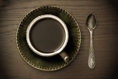 咖啡杯葡萄酒 免版税库存图片