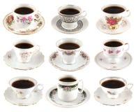 咖啡杯葡萄酒 免版税图库摄影