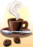 咖啡杯蒸 图库摄影
