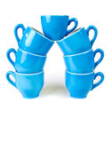 咖啡杯蓝色 图库摄影