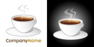 咖啡杯设计图标徽标 皇族释放例证