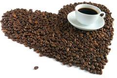 咖啡杯谷物模式白色 免版税库存照片