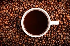 咖啡杯谷物 免版税库存照片