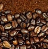咖啡杯豆 库存照片