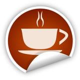 咖啡杯贴纸 免版税库存图片
