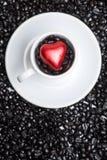 咖啡杯重点 免版税库存图片