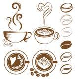 咖啡杯集合 皇族释放例证