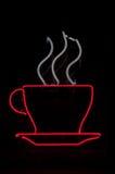 咖啡杯霓虹灯广告 免版税库存照片