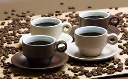 咖啡杯静物画 库存图片