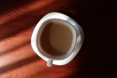 咖啡杯顶视图 免版税库存照片
