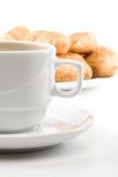 咖啡杯饼 图库摄影