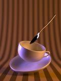 咖啡杯魔术 免版税库存照片
