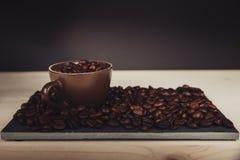 咖啡杯-咖啡恋人的 库存照片