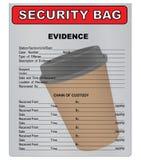 咖啡杯-物质证据 免版税库存图片